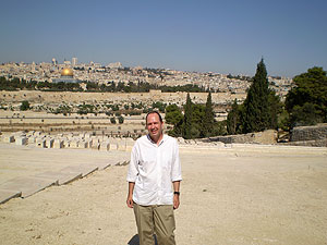 Peter Gee on Mount of Olives